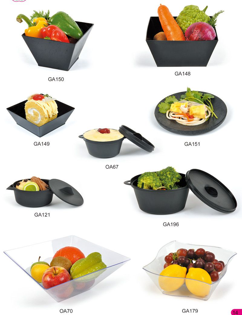 Plastic Bowl Ice Cream Bowl with Lid Tableware