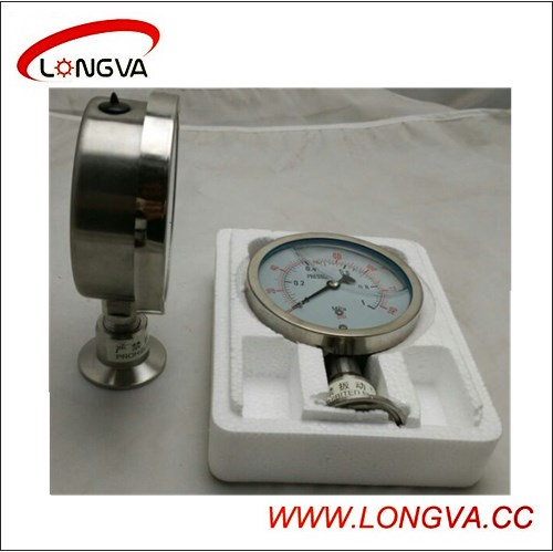 Sanitary Stainless Steel Clamped Pressure Gauge