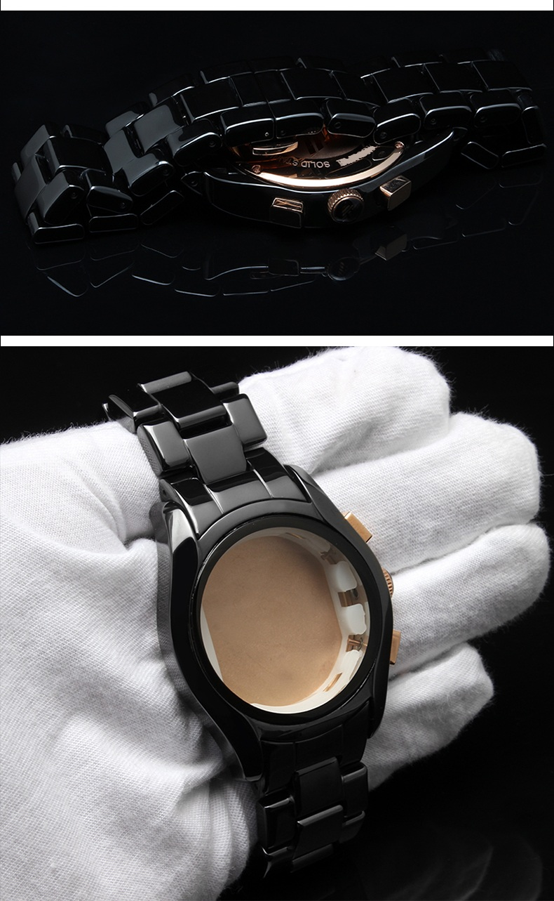 Ceramic Case and Band for Men and Womens Wristwatch or Ceramic Time Pieces