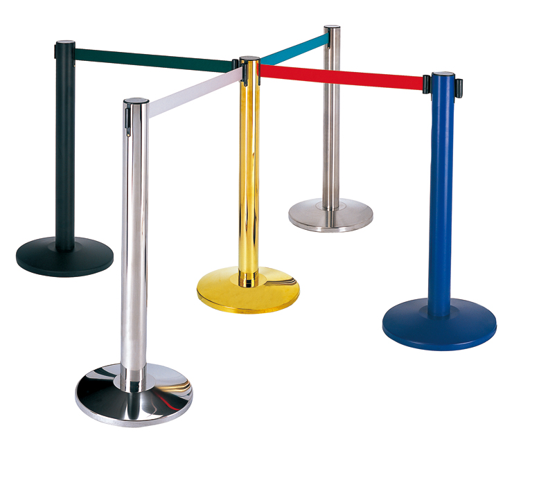 Hotel and Bank Lobby Stainless Steel Crowd Railing Stand