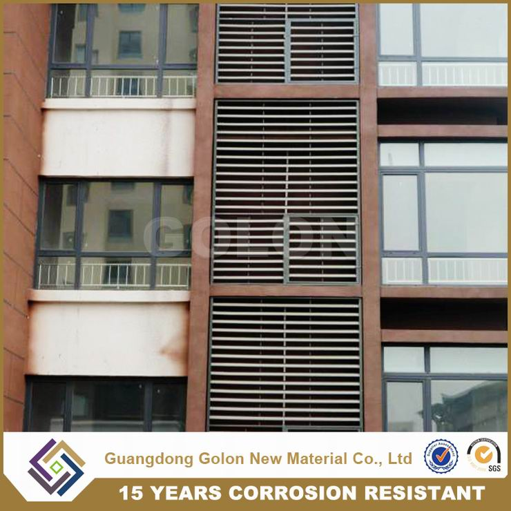 Powder Coated Aluminum Metal Iron Window Shutter Blind Window Fixed Louver