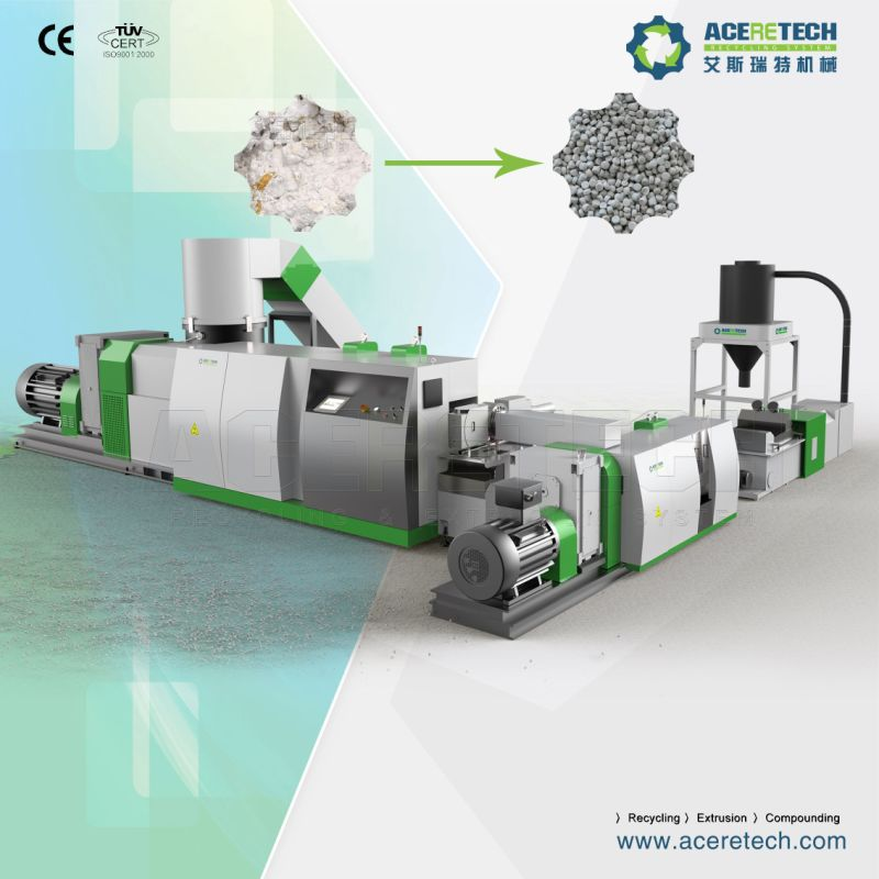 Smart Control Recycling Graunlating System for Plastic Film