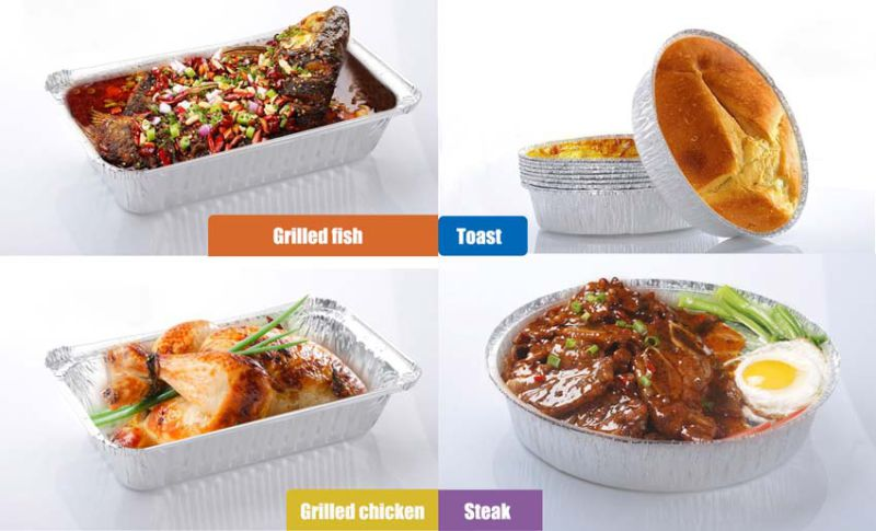 Restaurant Aluminum Carry out Containers