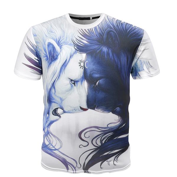Summer Fitness High Quality Retail T Shirt 3D, Digital Printing T Shirt
