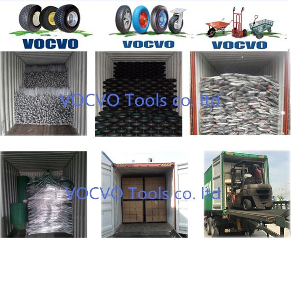 New Heavy Duty Steel Wheelbarrow for Garden Farming Tools