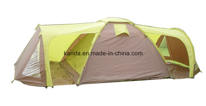 4 Persons Family Tent with 1 Bedroom 2 Living Rooms