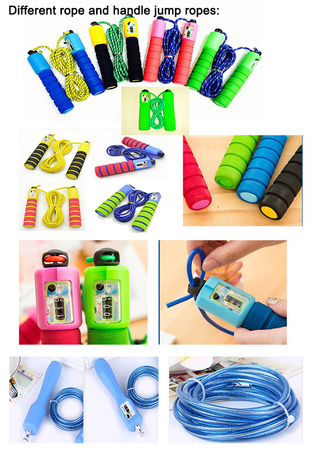Adjustable Cotton Rope Skipping Rope PVC Jump Rope with Counter