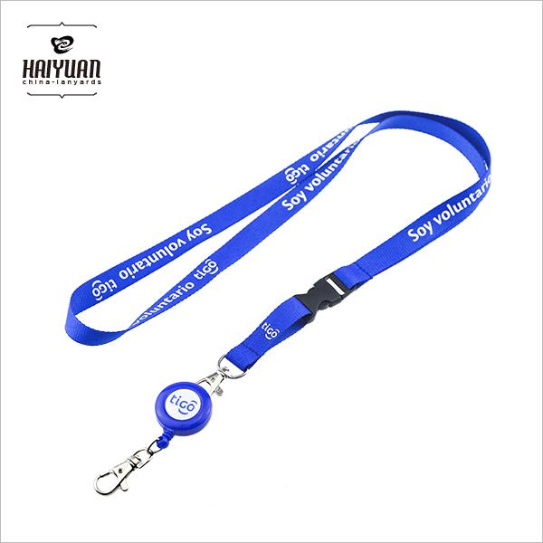 Custom Retractable Neck Lanyard with Badge Reel ID Card Holder