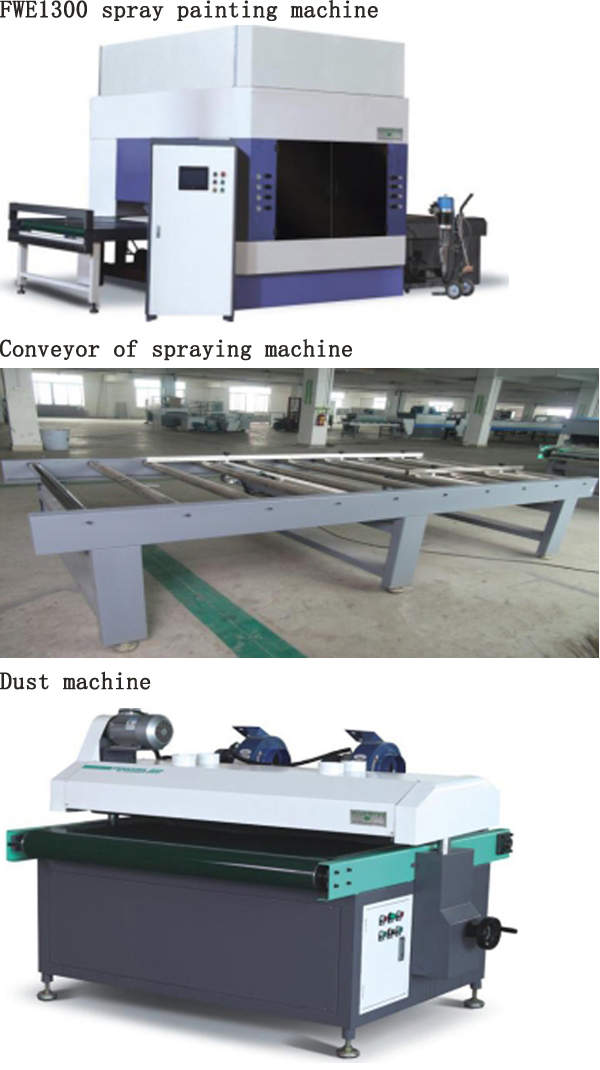 Automatic Wood Lines Spray Painting with Conveyer and Dust