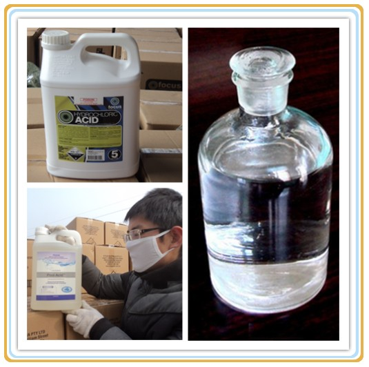 Hydrochloric Inorganic Acid with Industrial Grade CAS No. 7647-01-0