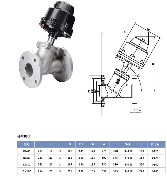 Pneumatic Flanged Angle Piston Valve Ss316/304 Stainless Steel
