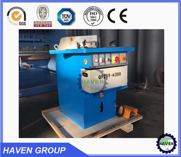 Hydraulic Notching Machine QF28Y-4X200 Angle Cutting Machine