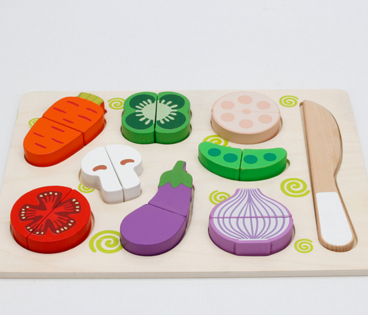 Magnetic Wooden Cut Fruit Game Toy