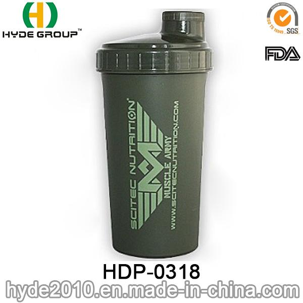 700ml Customized Protein Shaker Bottle, Plastic Powder Shaker Water Bottle (HDP-0318)