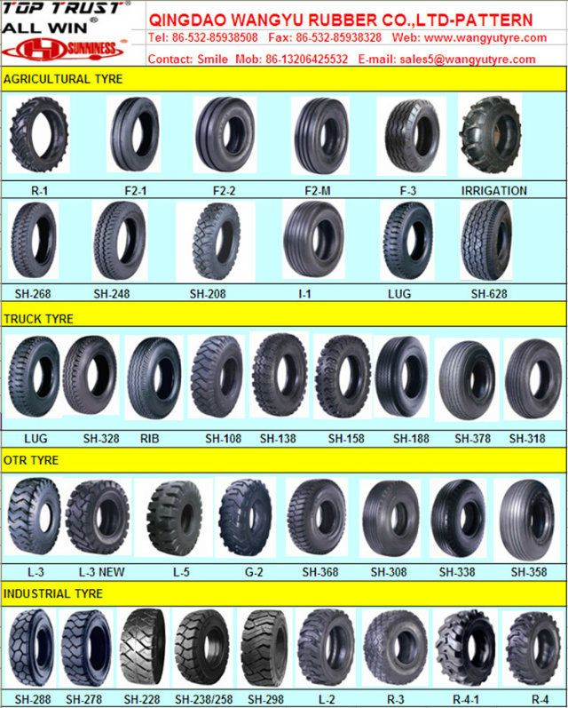 L2 Pattern for Skid Steer Industrial Tyre (12-16.5, 14-17.5, 15-19.5)