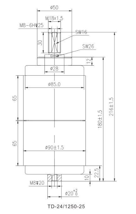 Vacuum Interrupter for 24kv Circuit Breaker (207C)