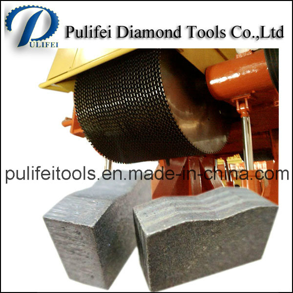 2000mm Tool Part Granite Stone Diamond Cutting Segment