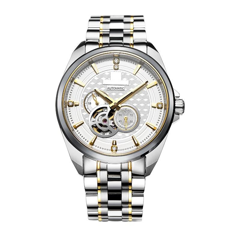Skeleton Automatic Mens Bracelet Watch