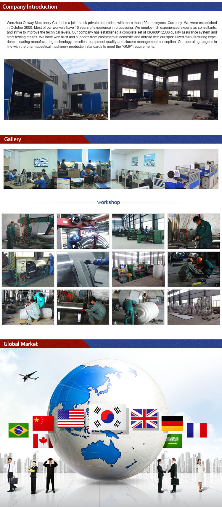 Pl Stainless Steel Factory Price High Efficient Liquid Single Layer Mixing Tank of Mixing Tank