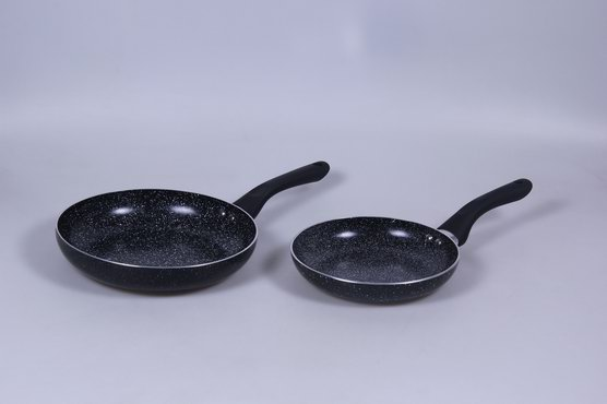 Full 3.0mmx3003 Aluminium Alloy Fry Pan with Non-Stick 2-Layer Marble Coating and Induction Base