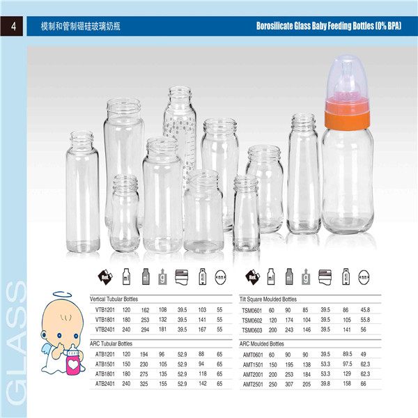 High Quality Glass Baby Feeding Bottle From Spg