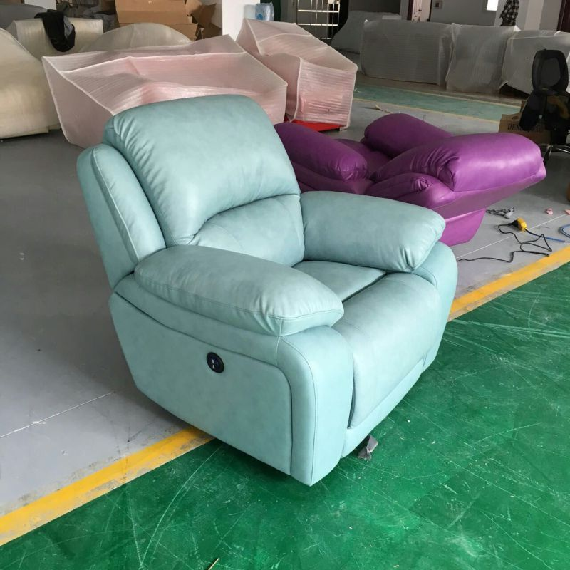 Living Room Furniture, Home Furniture, Leather Recliner Sofa (GA08)