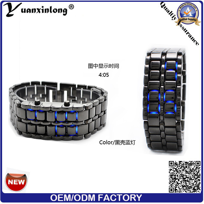 Yxl-148 Fashion Stainless Steel Watch Box Binary Watch Double Row LED Watches Men Lava Women Men's LED Watches