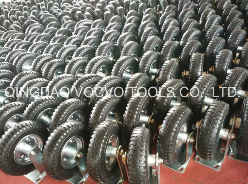 10 Inch PU Foam Solid Caster Wheel for Trolley Cart
