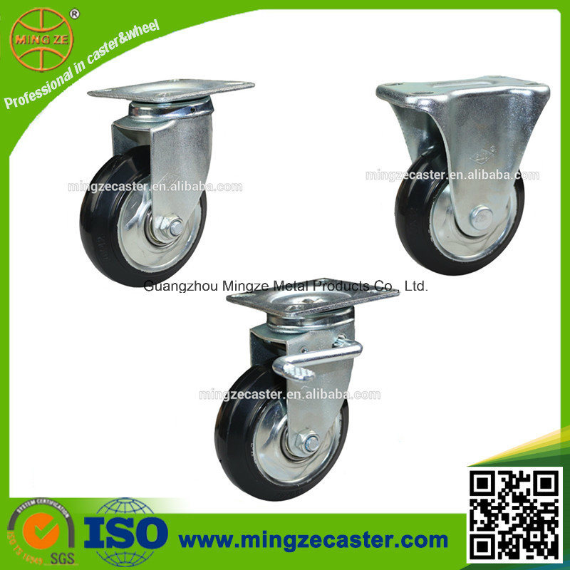 4 Inch Industrial Swivel Rubber Caster