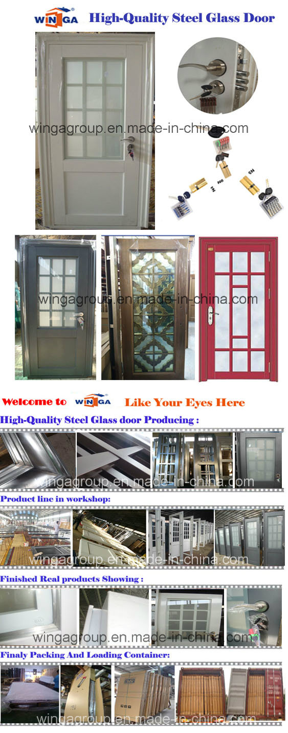 New Church French Style Security Steel Round Glass Door (W-GD-08)