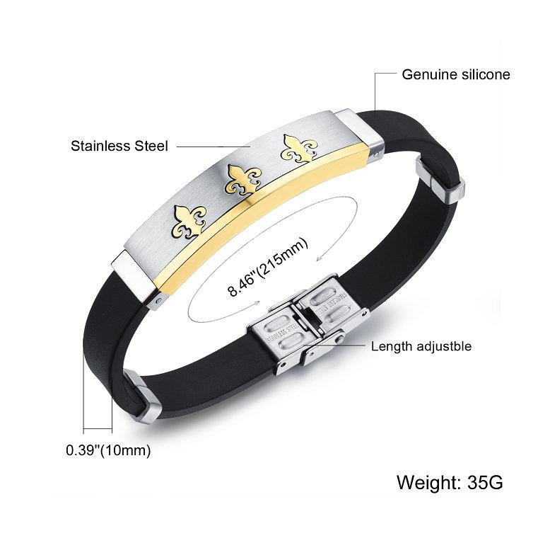 Fashion Jewellery Stainless Steel Jewelry Silicone Bracelet (LB221)