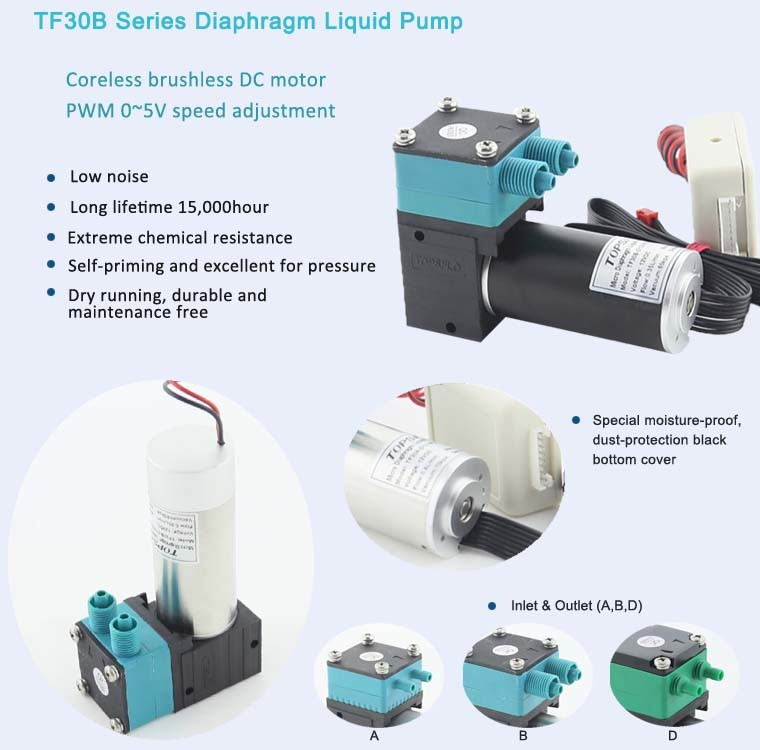 Mini 6V 12V 24V DC Diaphragm Vacuum Pump