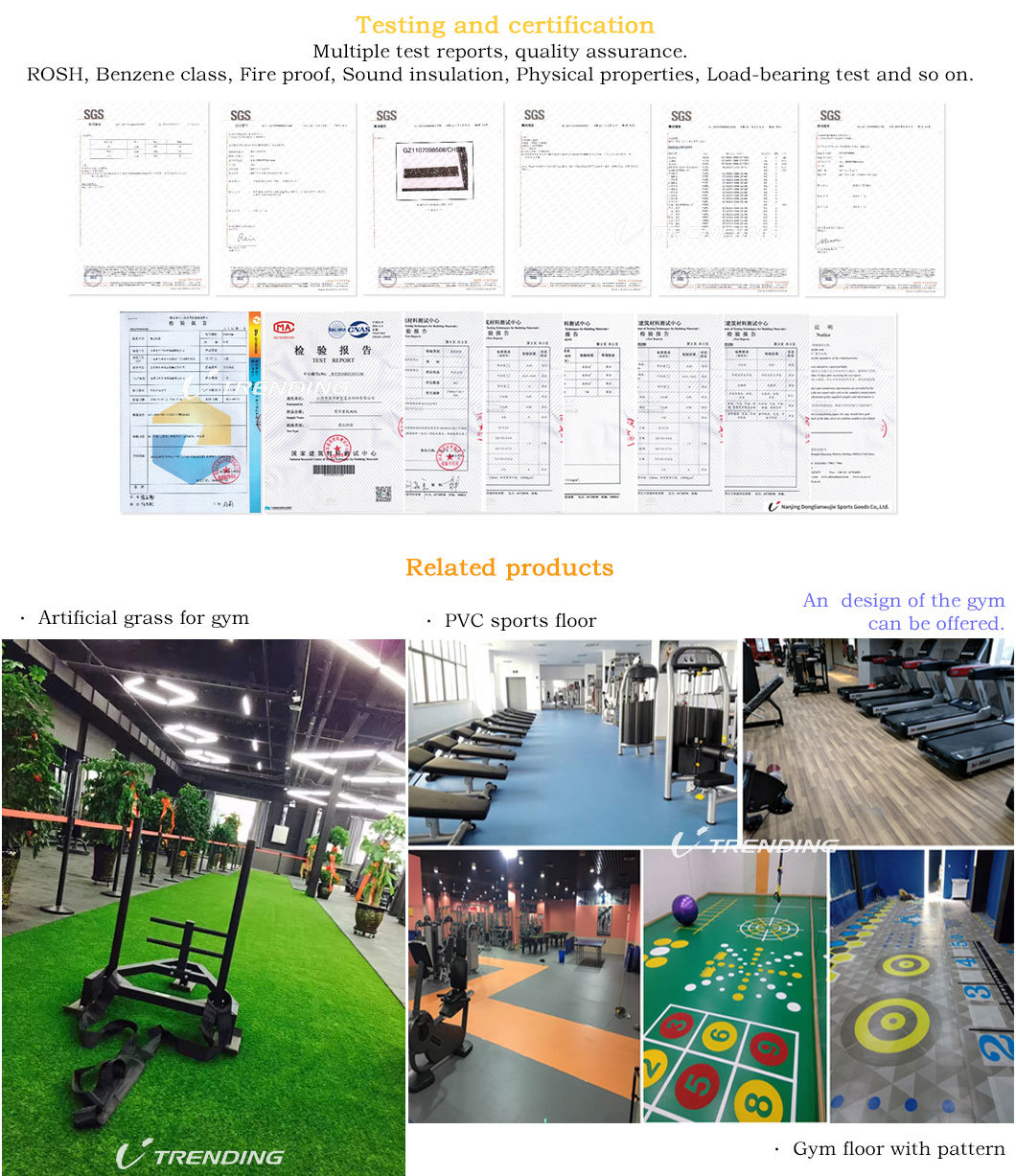 High Quality Gym Exercise Rubber Flooring Roll