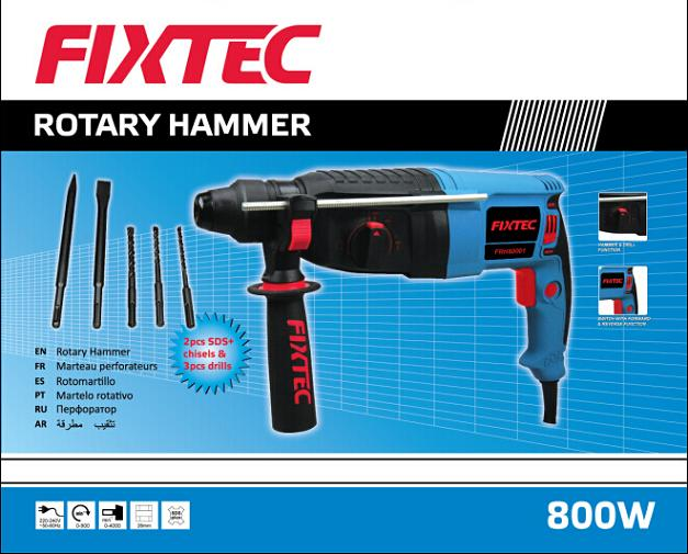 Fixtec 800W Electric Rotary Hammer Drill