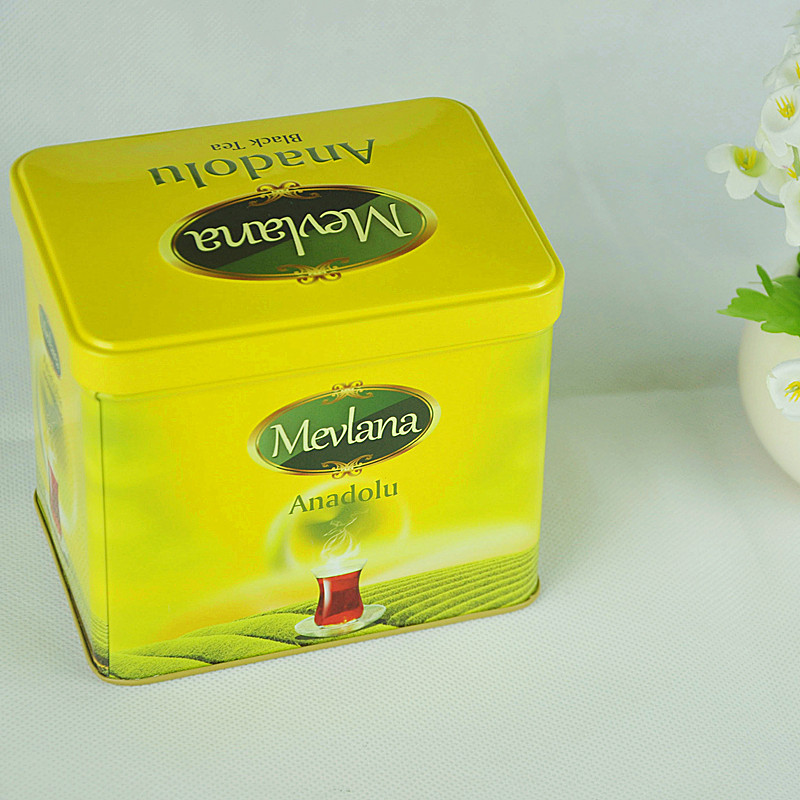 Tin Box Factory Manufacturing Recatngular Tea Gift Packaging Tin Box Sets