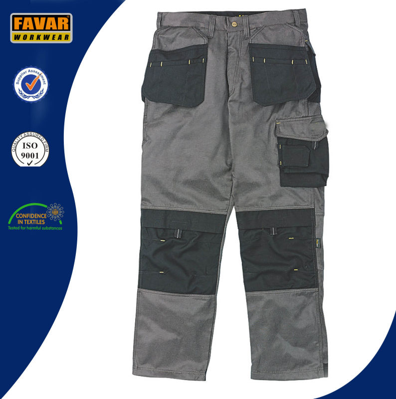 Mens Construction Woker Workwear Durable Work Trousers