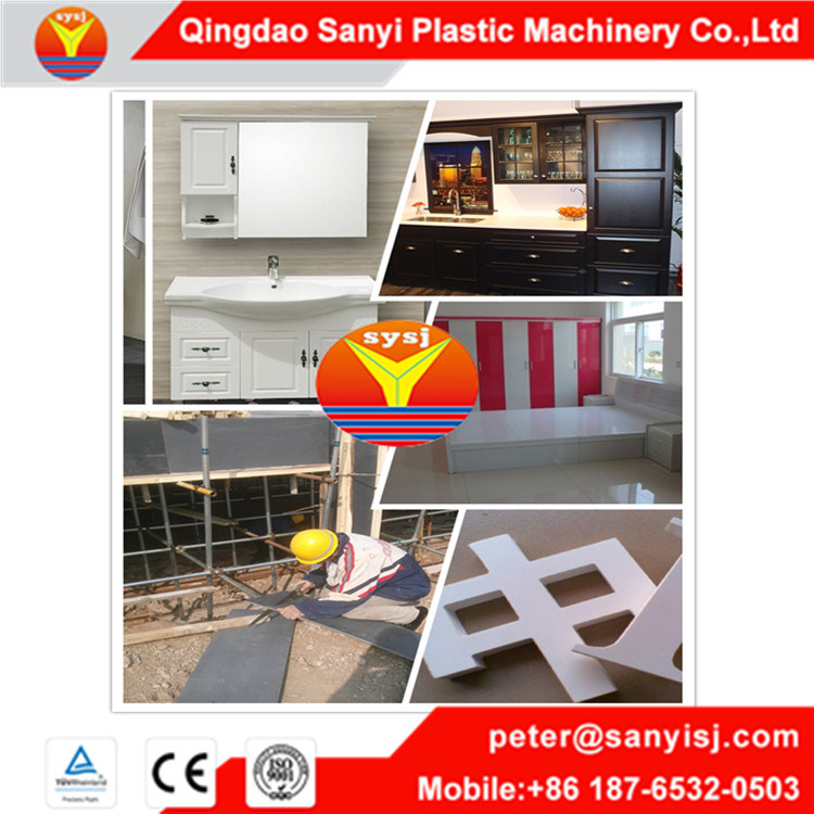 Twin Screw Extruder PVC Wood Plastic Foam Board Making Machine