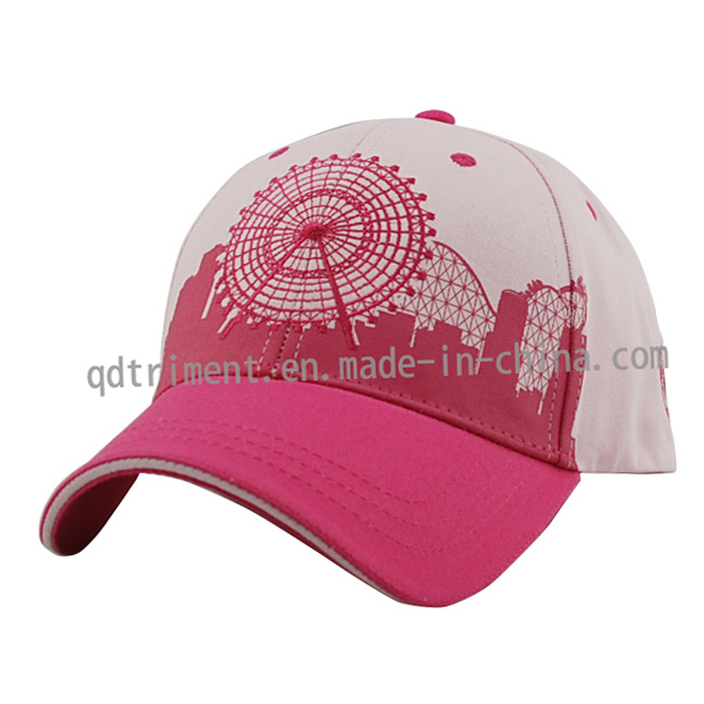 Terry Embroidery Cotton Twill Sandwich Baseball Golf Sport Cap (TRB046)