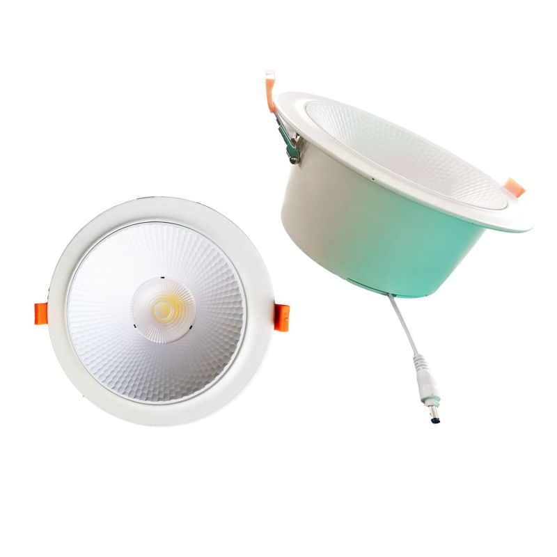 10W/20W/30W/40W/50W Non-Dimmable/ Dimmable COB Recessed LED Ceiling Downlight