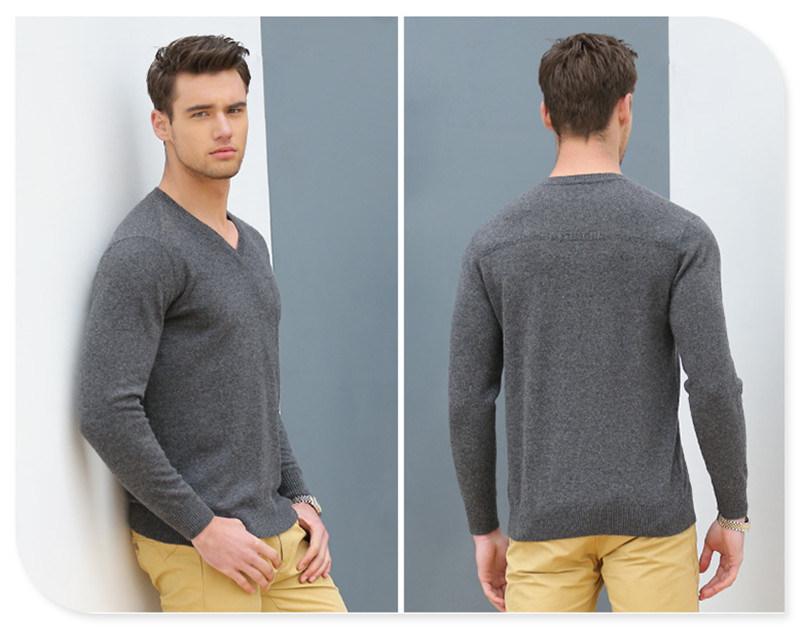 High Quality Wholesale Knit Wear Men's V-Neck Cashmere Sweater