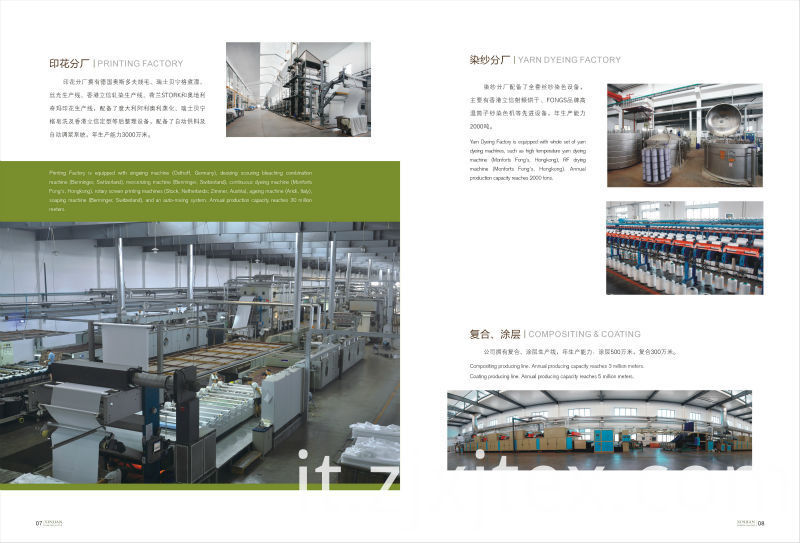 Printing,Yarn dyeing and Coating Department