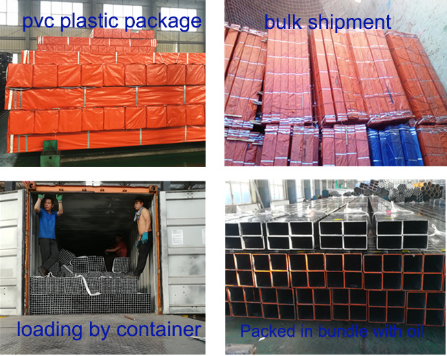 ASTM A500 Grade B Carbon Galvanized Square Steel Pipes for Structural Applications