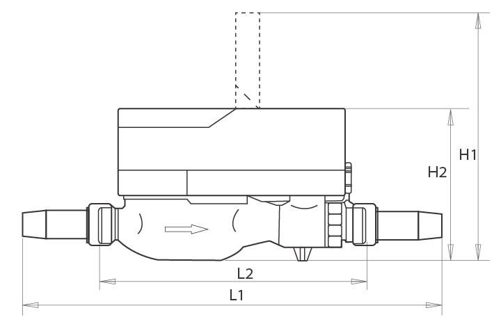 Brass Body Inteligent Prepaid Water Meter Hot Sale