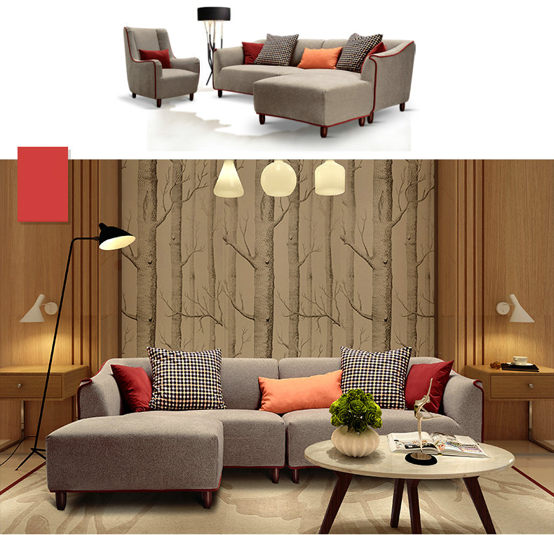 North Europe Style Home Furniture, Simple Design Fabric Sofa (M610)
