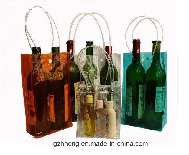 Hot Printing Plastic PVC Bag for wine (wine bag)