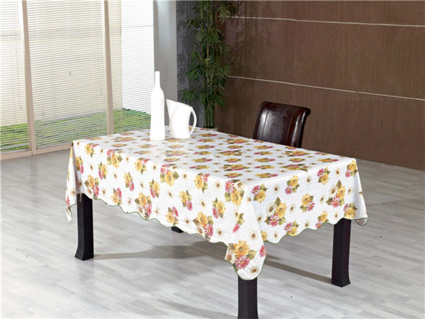 Cheap Popular White PVC Opaque Printed Tablecloth