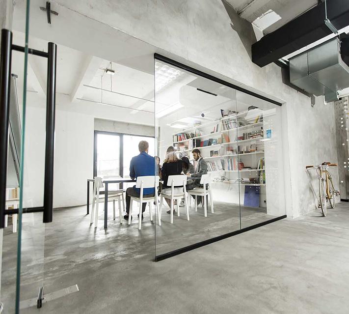 Design Frosted Glass Room Divider