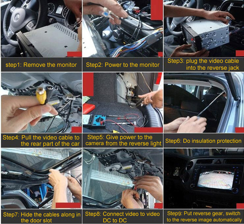 7inch Backup Rear View Mirror Monitor Camera System