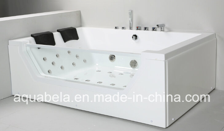 2 Person Acrylic Massage Bathtub Shower Tray Jacuzzi Whirlpool