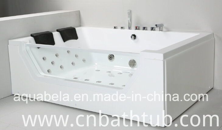 2 Person Acrylic Massage Bathtub Shower Tray Jacuzzi Whirlpool